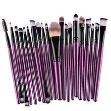 20Pcs Makeup Brushes Set Pro Powder Blush Foundation Eyeshadow Eyeliner Lip Cosmetic Purple Brush Kit Beauty Tools