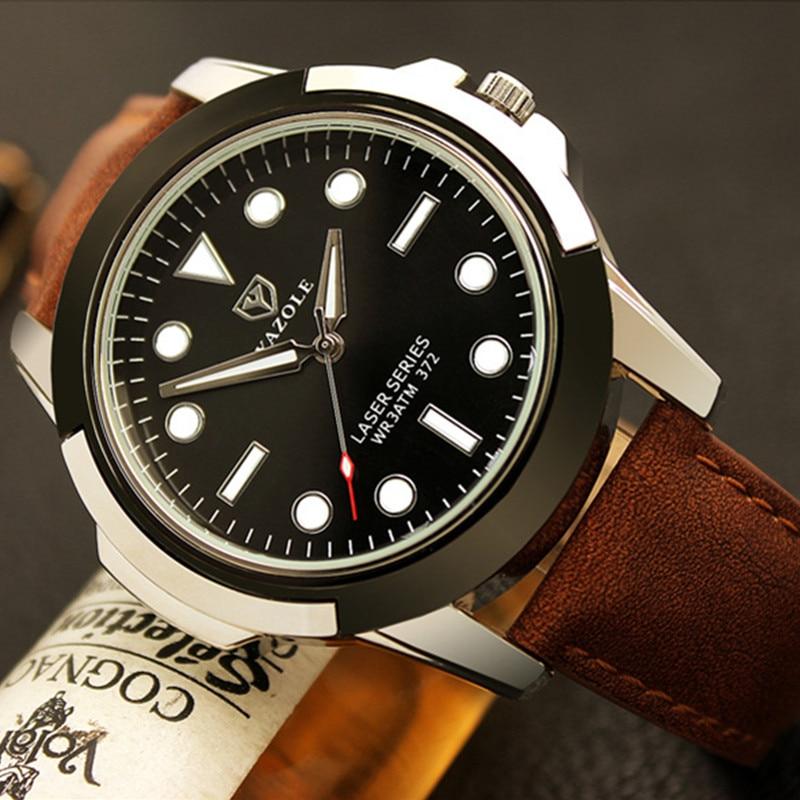 YAZOLE Top Brand Fashion Luminous Sport Watch Men MilitaryWatches Waterproof Quartz Watch Hour Clock Montre Homme Reloj Hombre