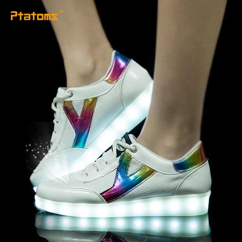 fashion women led sneakers breathable usb mens light up shoes men 39 s led luminous shoes for. Black Bedroom Furniture Sets. Home Design Ideas