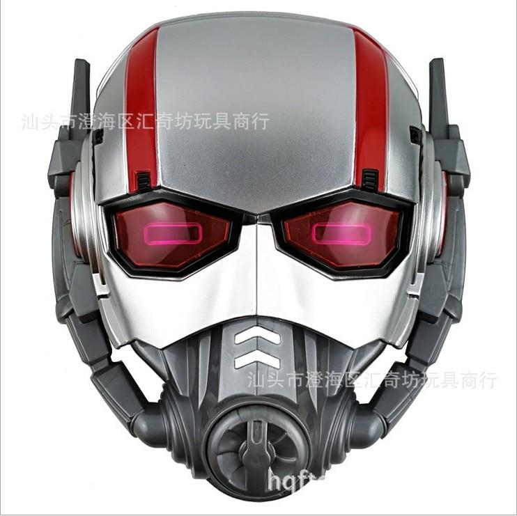 2019 verkauf Wie Heiße Kuchen 21*18*6 cm Kunststoff Avengers Ant-Man kinder Spielzeug Leucht maske Cosplay Requisiten Urlaub Geschenke Ornament