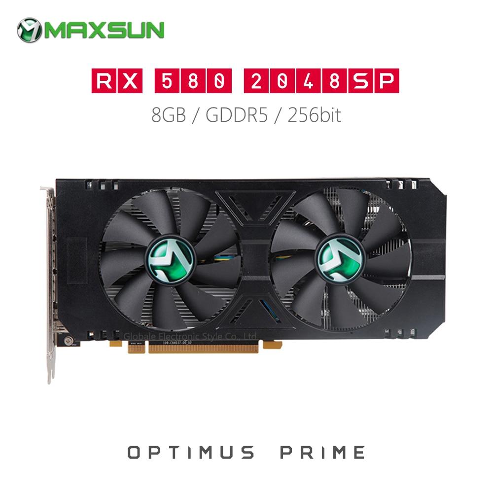 Original MAXSUN Radeon RX580 2048SP 8GB M.2 Video Graphics Card for Gaming GDDR5 AMD Map DP HDMI