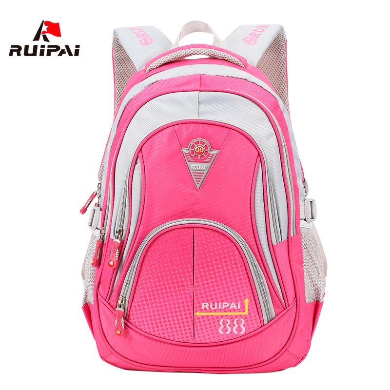 RUIPAI Nylon Children School Bags Brand Design School Bags For Teenage Girls Boys Kids Backpacks Unisex School Back Pack