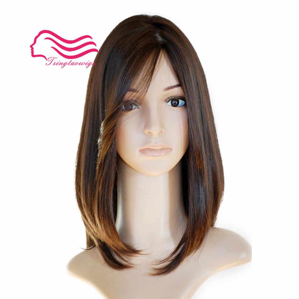 Tsingtaoiwgs najlepsze naturalne włosy europejskiej 9A nieprzetworzone włosy peruka żydowska, silk top koszerna peruka najlepsze Sheitels darmowa wysyłka