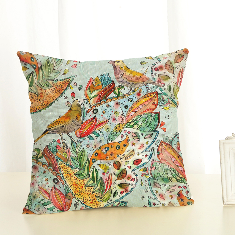 Cushion Cover Birds for children Decorative Cushion Covers for Sofa Throw Pillow Car Chair Home Decor Pillow Case almofadas