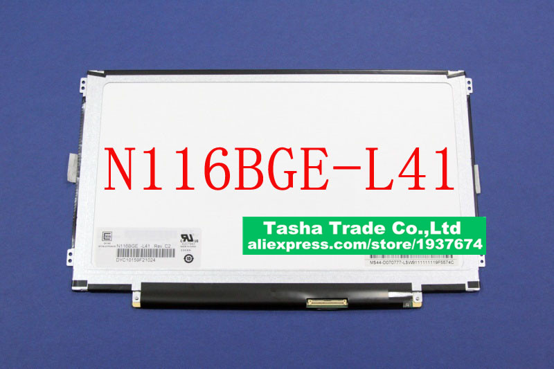 N116BGE-L41 N116BGE L41 LCD Screen LED Display 40 PIN LVDS Glossy Left and right Screw Holes