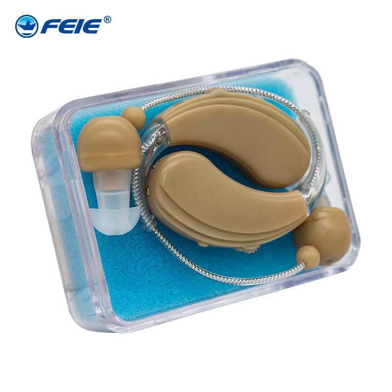 2018 FEIE nyeste høreapparat, høreapparat bag øret, BTE genopladeligt høreapparat S-109S gratis forsendelse
