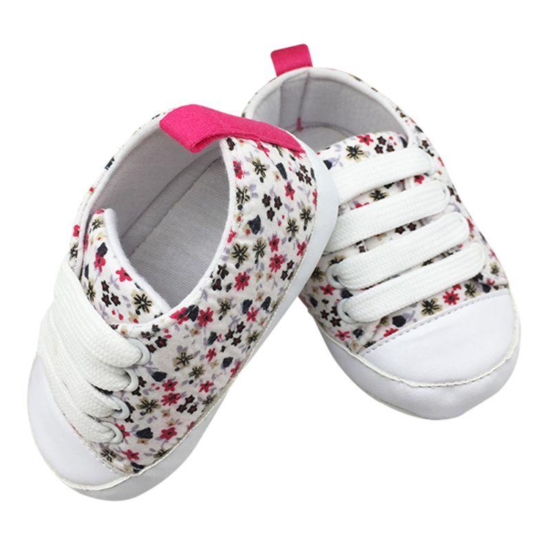 Модные Дети Повседневное Кружево-Up Sneaker мягкой подошве детская Обувь для младенцев Обувь для малышей 0-18 м