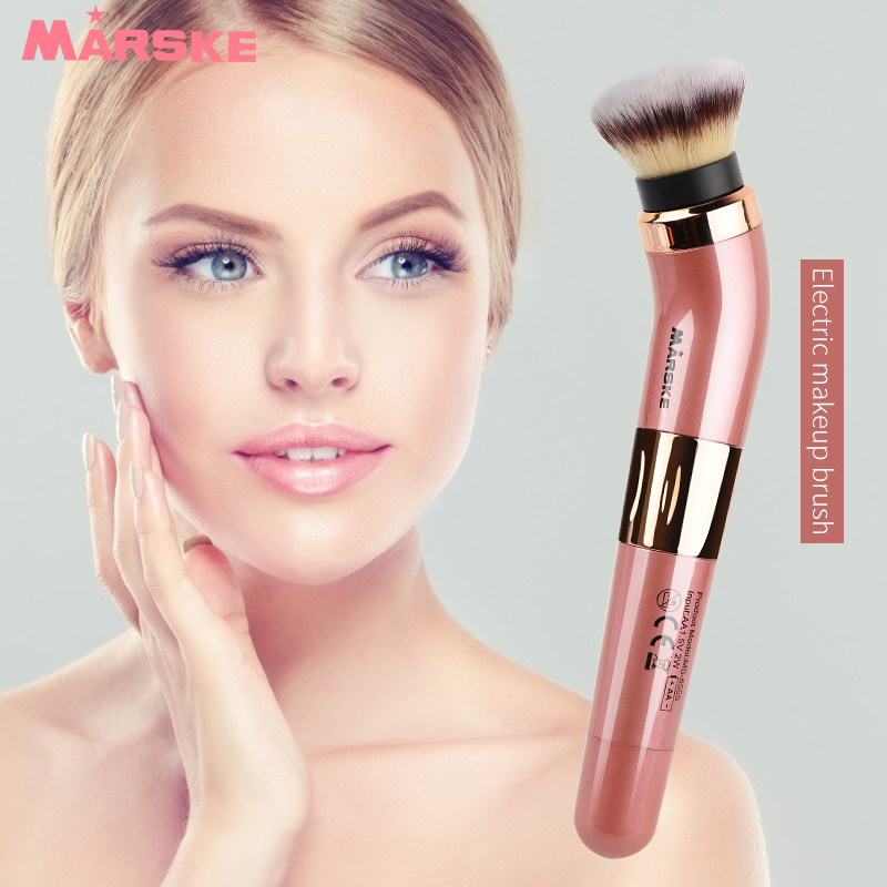 MARSKE Electric Makeup Brush Loose Powder Beauty Tool 360 Degree Rotation Non toxic Makeup Brush in Powered Facial Cleansing Devices from Home Appliances