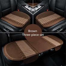 Nuovo 3 Pz/set Universale Comodo di Bambù del carbone di legna di lino Cuscino del Sedile Auto Per Porsche Cayenne SUV Cayman auto-styling