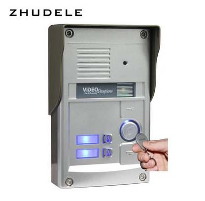 ZHUDELE 2-apartment 8.3 Display Wired Video Door Phone Touch button Doorbell Intercom & Night Vision camera with inductive card