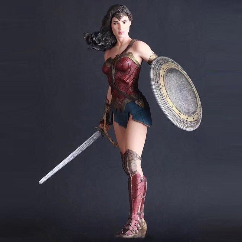 Chiffres d'acte jouets super-héros Justice League 27 cm merveille femme PVC figurine à collectionner modèle jouet poupées