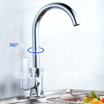 L17238 - Luxury Deck Mounted Chrome Finish Brass Sink Faucet