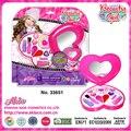 2016 novo venda quente crianças jogar jogos de crianças makeup set ferramenta crianças set meninas brinquedos make up do amor do coração forma