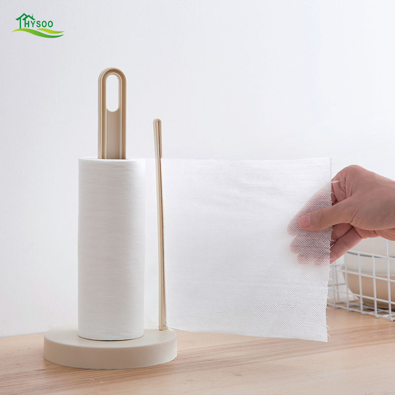 Vertical roll paper holder Kitchen paper Napkin racks Creative desktop Punch-free paper towel rack ...