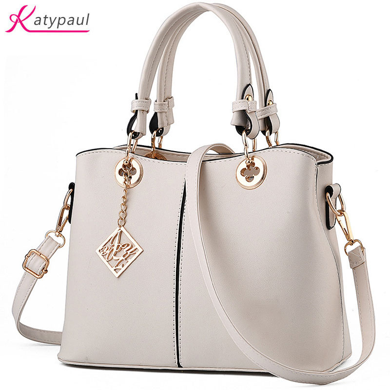 Women Bag White PU Leather Ladies Hand Bags Women Shoulder Bag Hign Quality Designer Luxury Brand Commuter Office Tote Bag Gifts