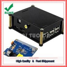 Raspberry pi 2 / 3HIFI DiGI digital sound card + black acrylic shell