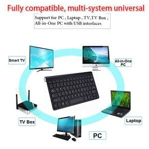 Image 2 - Ultra Dünne Drahtlose Tastatur Tragbare 2,4G Mini Tastatur Maus Set Für Mac/Notebook/TV Box/PC büro Liefert für IOS Android