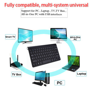 Image 2 - Ultra Slim 2.4G Wireless Keyboard Portable Mouse Mini Set Keyboard for IOS Android For Mac/Notebook/TV Box/PC Office Supplies