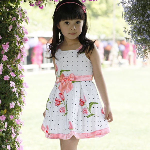 dd91359d9 Cute Toddler Baby Girls Flower Cotton Dress Kids Summer Party Formal  Dresses-in Dresses from Mother & Kids on Aliexpress.com | Alibaba Group