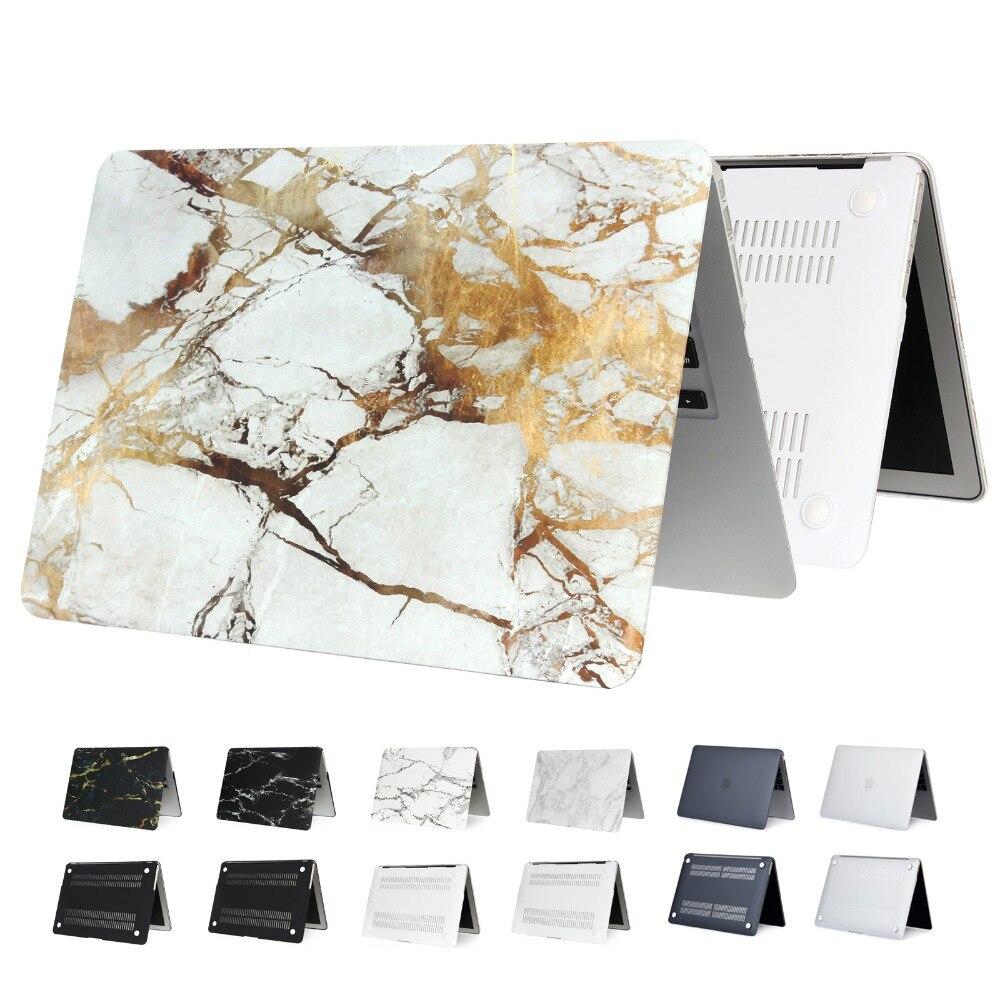 Egyal mármore fosco duro caso do portátil para macbook air 13 11 pro 15 retina 12 polegada caso com barra de toque para novo pro id capa a1932