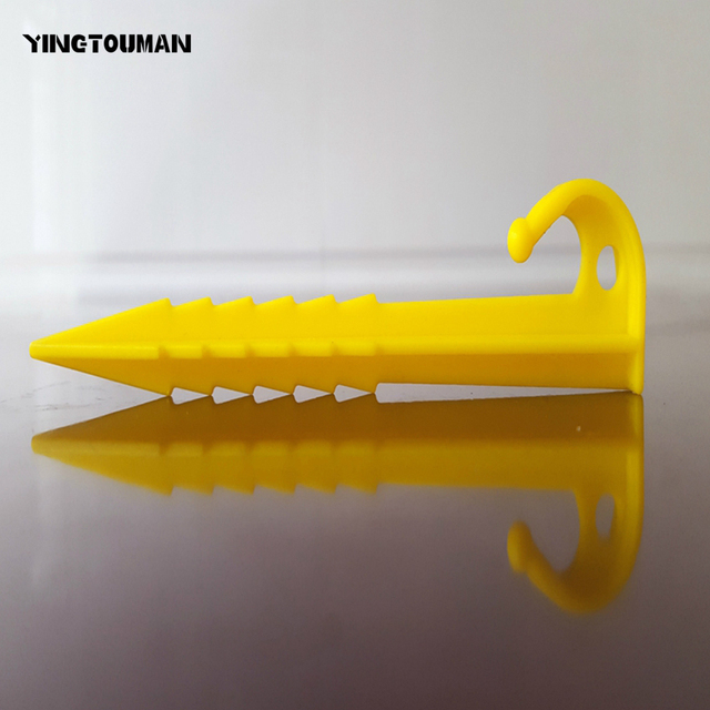YINGTOUMAN 10pcs/lot 14.5cm Plastic Sand Pegs Tent Peg Nail C&ing Hiking Ground Stakes & YINGTOUMAN 10pcs/lot 14.5cm Plastic Sand Pegs Tent Peg Nail ...