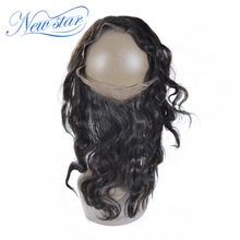 New Star 360 Lace Frontal Brazilian Body Wave Virgin Human Hair Free Part With Baby Hair Natural Hairline Free Shipping