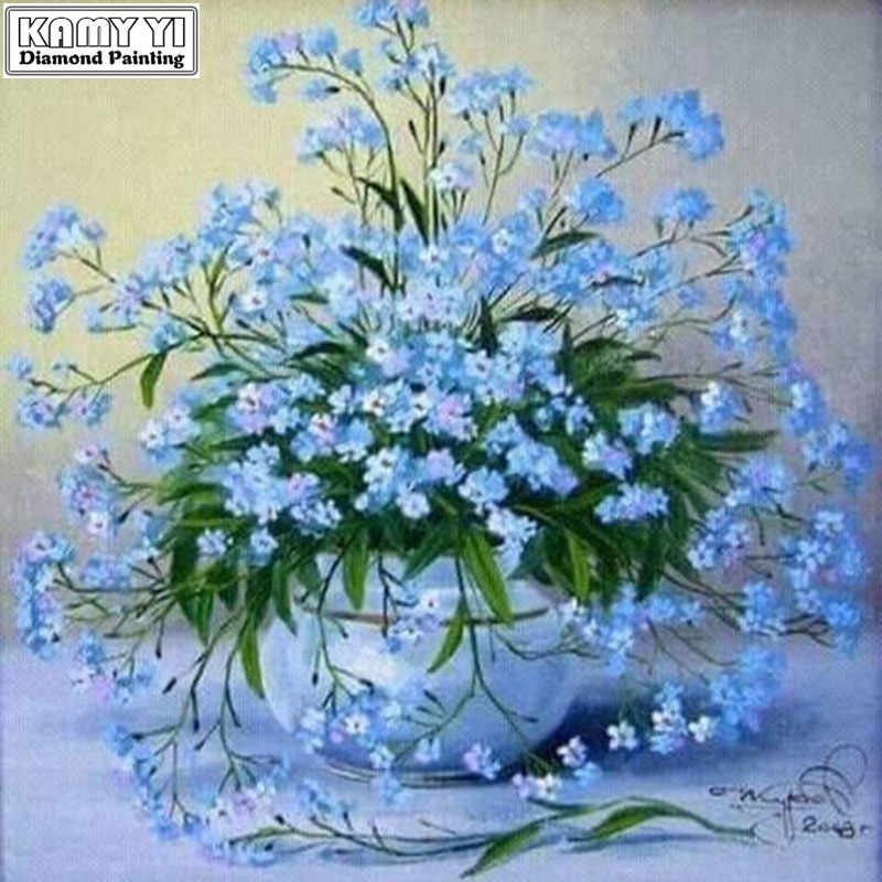 5D DIY Diamant stickerei Kreuz stich Gypsophila blume Platz Diamant mosaik Volle Runde Diamant malerei decor HYY