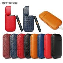 JINXINGCHENG 2PCS LOT Leather Case for IQOS 2.4 Plus Pouch Bag  2 Holder Cover 8 Colors