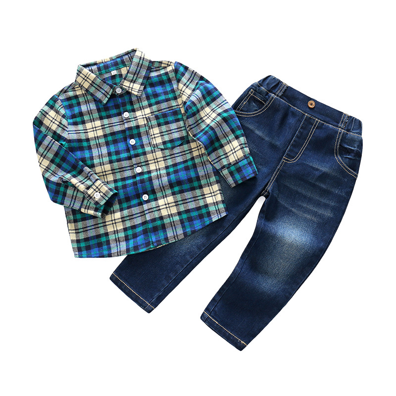 2018 Spring Summer Long Sleeve Jeans Pants Party Outfits 2pcs Clothing Set Casual Toddler Boys Kid Boys Clothes Sets Formal Suit flower embroidery jeans female blue casual pants capris 2017 spring summer pockets straight jeans women bottom a46 page 2