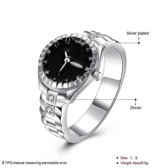 Fashion Women Mens Dial Quartz Analog Watch Creative Steel Cool Alloy Finger Rin
