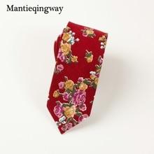 Mantieqingway Brand Mens Ties for Wedding Business Cotton Floral Tie Gravatas Cravats Slim Corbatas Vestidos Necktie