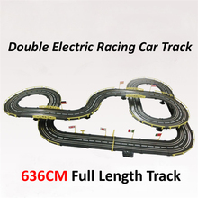 Electric slot car track racing 1:43 scale 636cm  rail double electric RC car toys for  children boys gift