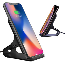 Qi Wireless Charger 10W Fast Charging stand Station For Samsung Note9 S8 S9 Plus For iPhone X XS 8 Plus xiaomi mix 2s Metal Age