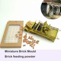 1:35 Brick mold Silica Gel Mould for Simulating Long Brick Situational Sand Table Making DIY Material 1/35 scale toys Scenario