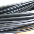 1 Meter 10*6mm Black PU (Poly Urethane) Licorice Leather Cord For DIY Jewelry ACC