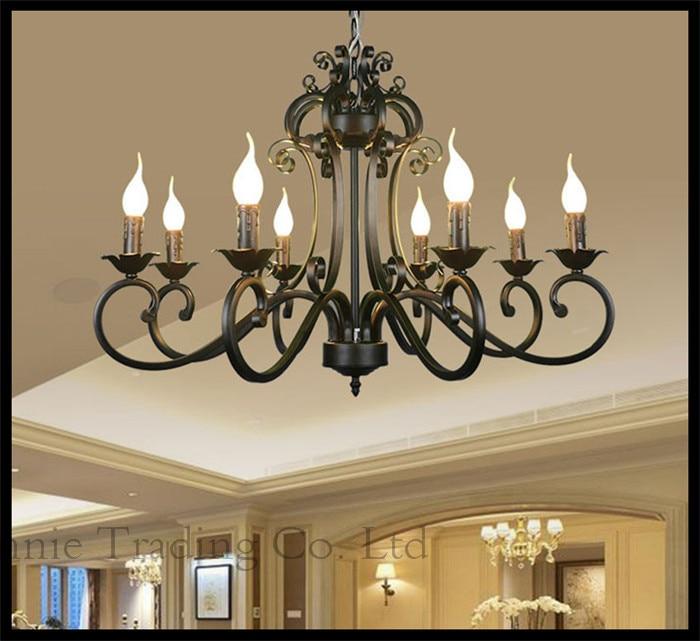 110v 240v ac 8 candle lights chandeliers e14 lustres lights black more detail pictures for your reference aloadofball Images