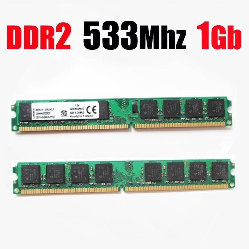(för AMD för intel) PC2-4200 RAM memoria DDR2 1Gb 533/1 gb ddr2 533Mhz 1G minnesram - livstidsgaranti - fri frakt