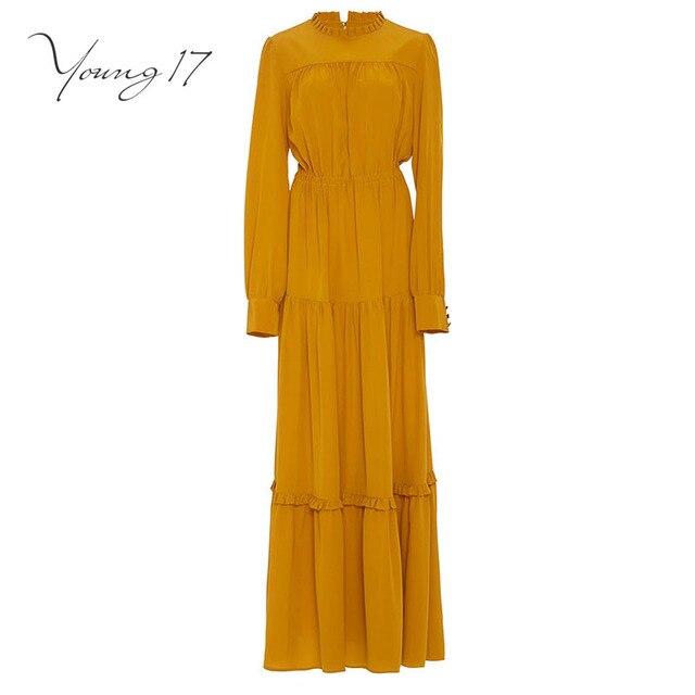 maxi jurk geel