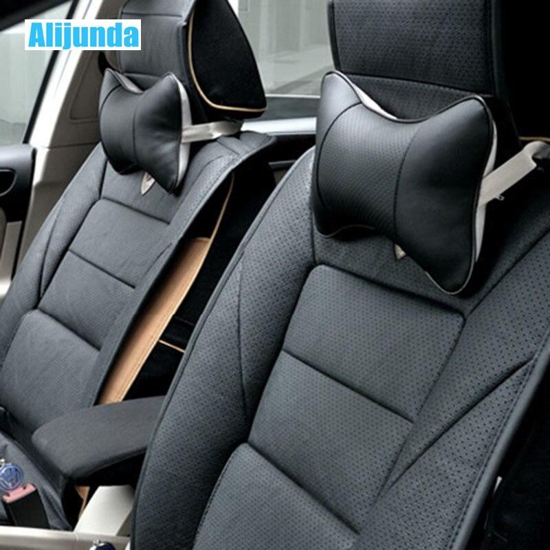 2015 Audi Sq5 Interior: 2 PCS Mini PU Leather Car Headrest For Audi Q3 Q5 SQ5 Q7