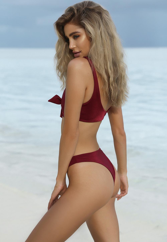 HTB1fvm7RVXXXXbWXFXXq6xXFXXXr - Summer sexy Beach Bikini Double wrapped chest Women Beach swimsuit Underwear Bra sets JKP388