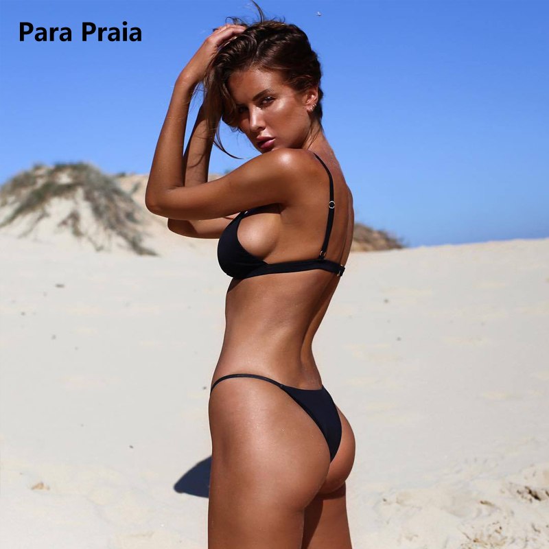 HTB1fvm7tkSWBuNjSszdq6zeSpXa1 9 Colors Solid Bikini Set 2019 Sexy Push Up Swimwear Women Brazilian Swimsuit Low Waist Biquini Halter Two Pieces Bathing Suit