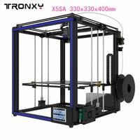 Оригинальный Tronxy X5SA 3d принтеры комплект 3,5 дюйм(ов) ЖК дисплей сенсорный экран DIY 0,4 мм диаметр сопла точность автоматическое выравнивание