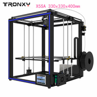 Original Tronxy X5SA 3D Printer kit 3.5 inches LCD Touch Screen DIY 0.4mm diameter nozzle precision Auto leveling 330x330x400mm