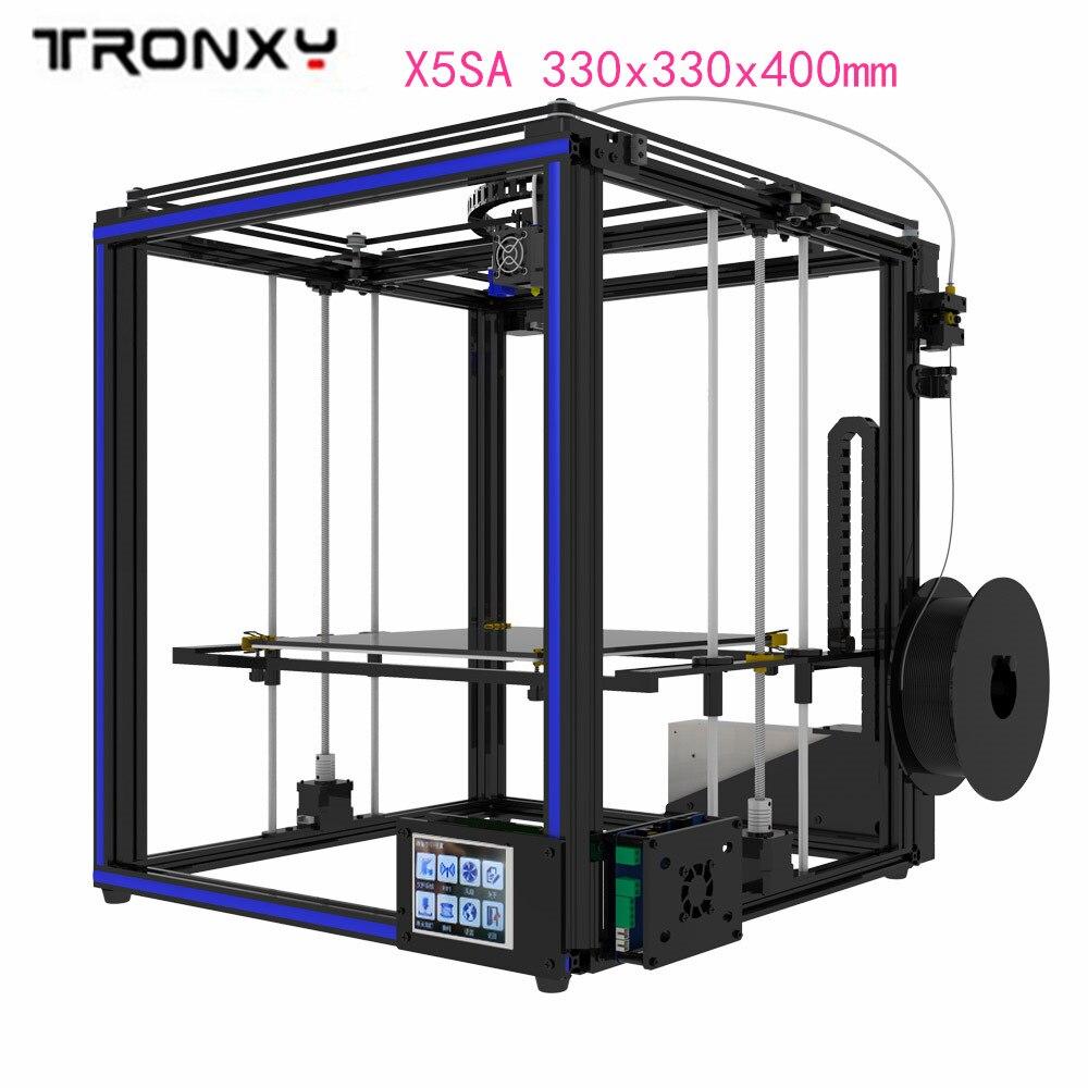 Original Tronxy X5SA 3D imprimante kit 3.5 pouces LCD écran tactile bricolage 0.4mm diamètre buse précision nivellement automatique 330x330x400mm