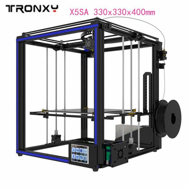 מקורי Tronxy X5SA 3D מדפסת ערכת 3.5 סנטימטרים LCD מגע מסך DIY 0.4mm קוטר נחיר דיוק אוטומטי פילוס 330 x 330x400mm