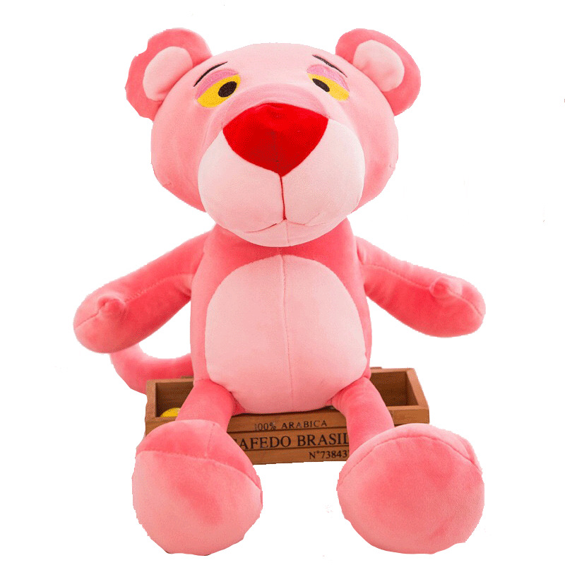 ASSOT Super Soft Pink Panther Stuffed Plush Toy Big Panther Dolls Leopard Plush Dolls for Teenagers Very Soft Good Quality