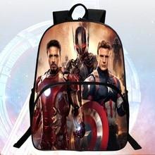 Fashion Hot Sale 16 inch Prints Cool Hero Kids Backpacks Boys School Bags Students School Backpack