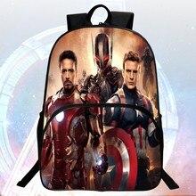 Venta caliente de la manera 16 pulgadas imprime fresco avengers hero niños mochilas niños de la escuela bolsas de la escuela los estudiantes mochila niño mochila bolsa