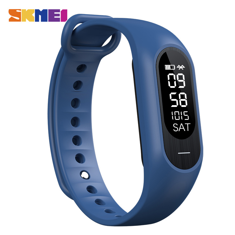 SKMEI Blood Pressure Smartband Men Heart Rate Sleep Tracker Pedometer Calorie Smart Watch Bluetooth Message Call