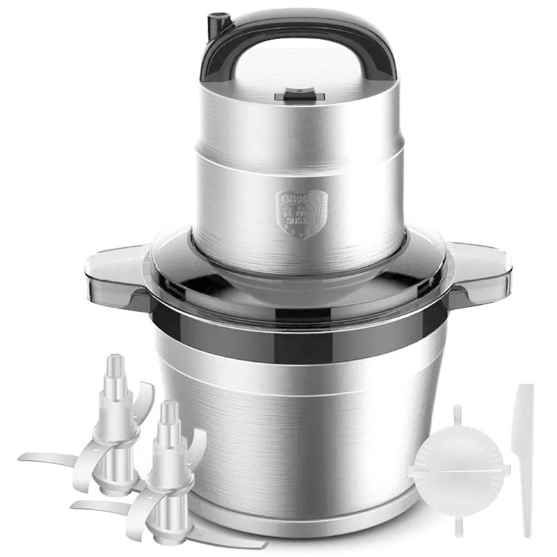 Commercial Capacity Meat Grinder High-power Minced Meat Blender Home Electric Stainless Steel Pepper Garlic Crusher Device